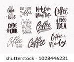 set of coffee lettering... | Shutterstock .eps vector #1028446231