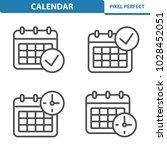calendar icons. professional ... | Shutterstock .eps vector #1028452051
