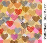 color doodle in heart shape... | Shutterstock .eps vector #1028452444