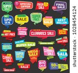 modern sale stickers and tags... | Shutterstock . vector #1028454124