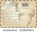 vector realistic old vintage... | Shutterstock .eps vector #1028454811
