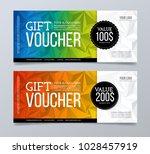 gift voucher template design... | Shutterstock .eps vector #1028457919