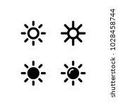 sun icons collection. vector... | Shutterstock .eps vector #1028458744