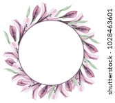 greeting card. floral frames ... | Shutterstock . vector #1028463601
