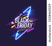 black friday banner. original... | Shutterstock .eps vector #1028465029