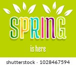 spring is here. colorful word... | Shutterstock .eps vector #1028467594