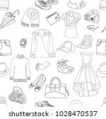 seamless pattern with clothes ... | Shutterstock .eps vector #1028470537