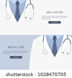 doctor close up. doctor icon.... | Shutterstock .eps vector #1028470705
