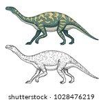 dinosaurs barosaurus ... | Shutterstock .eps vector #1028476219