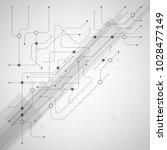 vector digital technology... | Shutterstock .eps vector #1028477149