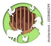 paper art carves the concept of ... | Shutterstock .eps vector #1028480299