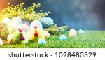 Ester Background With Colorful...