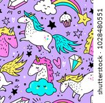 Hand Drawn Seamless Pattern...