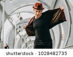 young and handsome dancer ... | Shutterstock . vector #1028482735