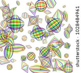 falling geometric figures.... | Shutterstock .eps vector #1028484961