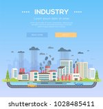 industry   modern flat design... | Shutterstock .eps vector #1028485411