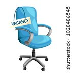office chair with vacancy sign... | Shutterstock .eps vector #1028486545