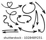 hand drawn diagram arrow icons... | Shutterstock .eps vector #1028489251