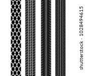 set of detailed tire prints.... | Shutterstock .eps vector #1028494615