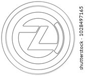zclassic   cryptocurrency coin. ... | Shutterstock .eps vector #1028497165