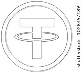 tether   cryptocurrency coin.... | Shutterstock .eps vector #1028497189
