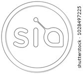 siacoin   cryptocurrency coin.... | Shutterstock .eps vector #1028497225