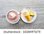 close up coffee cup and... | Shutterstock . vector #1028497675