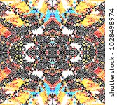mosaic colorful pattern for... | Shutterstock . vector #1028498974