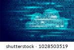 cloud computing online storage... | Shutterstock .eps vector #1028503519
