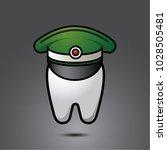 vector funny wisdom tooth...   Shutterstock .eps vector #1028505481