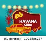 havaba cuba background | Shutterstock .eps vector #1028506237