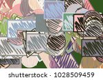 abstract mixed or mutiple...   Shutterstock .eps vector #1028509459
