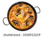 typical spanish rice  paella | Shutterstock . vector #1028512219