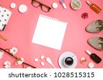 beautiful flatlay frame... | Shutterstock . vector #1028515315