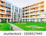 complex of new apartment...   Shutterstock . vector #1028517445