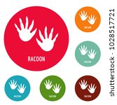 racoon step icons circle set... | Shutterstock .eps vector #1028517721