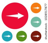 arrow icons circle set vector...