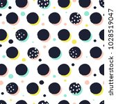 creative seamless pattern with... | Shutterstock .eps vector #1028519047