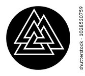 valknut  three triangles.... | Shutterstock .eps vector #1028530759
