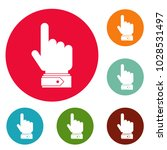 hand direction icons circle set ... | Shutterstock .eps vector #1028531497