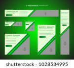 six web banners standard sizes... | Shutterstock .eps vector #1028534995