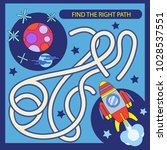 find the right path from rocket ... | Shutterstock .eps vector #1028537551