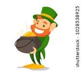 leprechaun with red beard... | Shutterstock .eps vector #1028538925