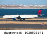 haneda   japan  january 27 ... | Shutterstock . vector #1028539141