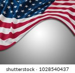 closeup of american flag on... | Shutterstock . vector #1028540437