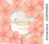 spring sale design template... | Shutterstock .eps vector #1028543845