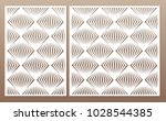 template for cutting. square... | Shutterstock .eps vector #1028544385