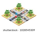 city isometric 3d intersection... | Shutterstock .eps vector #1028545309
