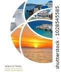 photo collage greece. greek... | Shutterstock . vector #1028545585