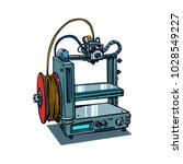 3d printer manufacturing... | Shutterstock .eps vector #1028549227